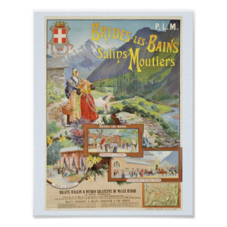 Brides les Bains French Alps Poster