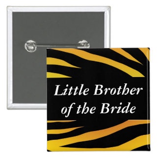 Brides Little Brother Pinback Button