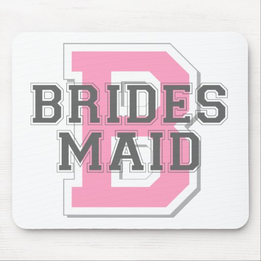 Brides Maid Cheer Mouse Mat