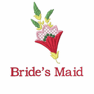 Bride's Maid floral embroidered women's t-shirt