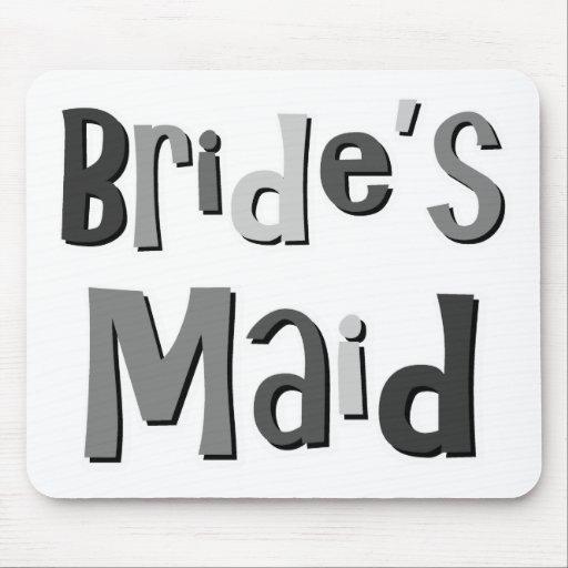 Brides Maid Gray Mouse Mats