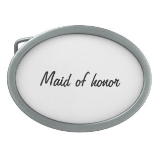 Bride's Maid of honor Oval Belt Buckles