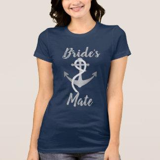 Bride's Mate Nautical Anchor Wedding Paty Shirt