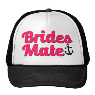 Brides Mate with Anchor Bridesmaid Hat Pink
