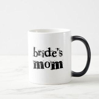 Bride's Mom Black Text Magic Mug