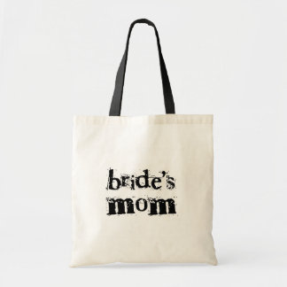 Bride's Mom Black Text Tote Bag