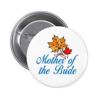 Bride's mom - fall 2 inch round button