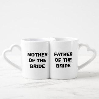 Bride's Mother/Father Nesting Mug Set