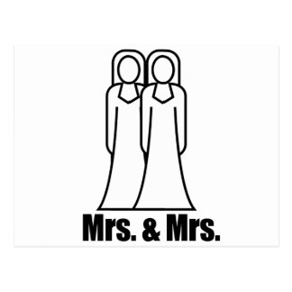 BRIDES MRS. AND MRS. -.png Postcard