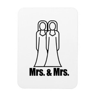 BRIDES MRS. AND MRS. -.png Rectangular Magnet