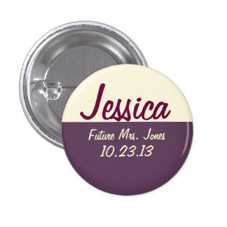 Bride's Name Tag 1 Inch Round Button