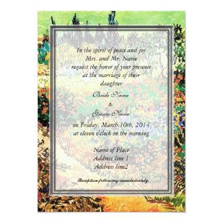 """Bride's parents invitation 5.5"""" x 7.5"""" invitation card"""