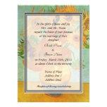 bride's parents invitation, van Gogh sunflowers Invites