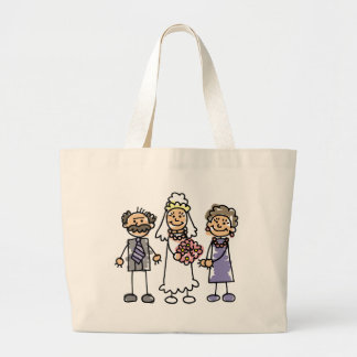 Brides Parents Wedding Day Before Ceremony Large Tote Bag