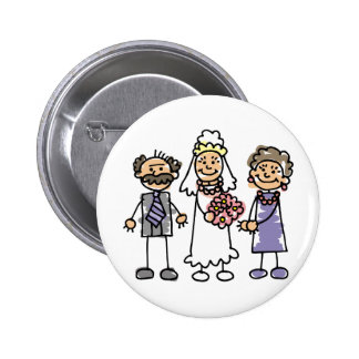 Brides Parents Wedding Day Before Ceremony Pinback Button