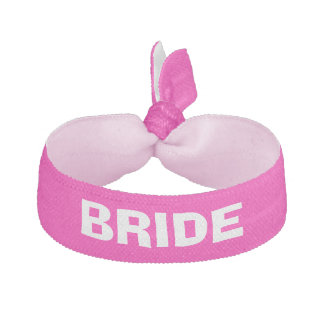 Brides pink personalized hair tie