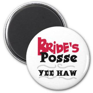 Bride's Posse 2 Inch Round Magnet