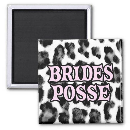 Brides Posse 2 Inch Square Magnet