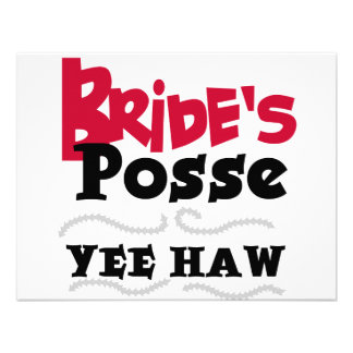 Bride's Posse Bachelorette Party Tshirts Personalized Invitations