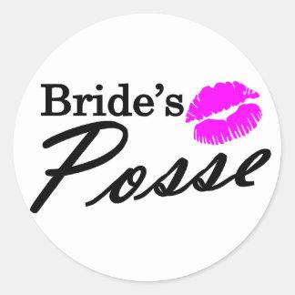 Brides Posse Classic Round Sticker