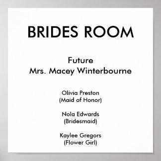 BRIDES ROOM, FutureMrs. Macey Winterbourne, Oli... Poster