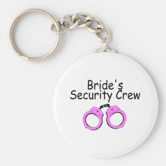 Brides Security Crew (Handcuffs) Basic Round Button Keychain