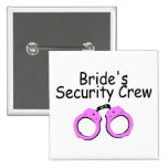 Brides Security Crew (Handcuffs) Buttons