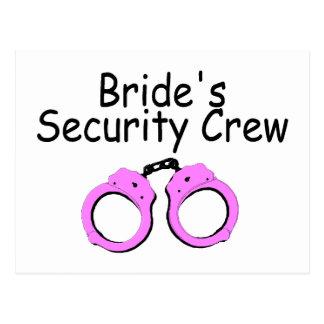 Brides Security Crew (Handcuffs) Postcard