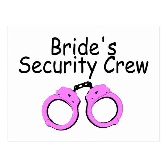 Brides Security Crew (Pink Cuffs) Postcard