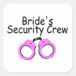 Brides Security Crew (Pink Cuffs) Stickers