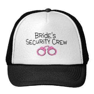 Brides Security Crew Pink Handcuffs Trucker Hat