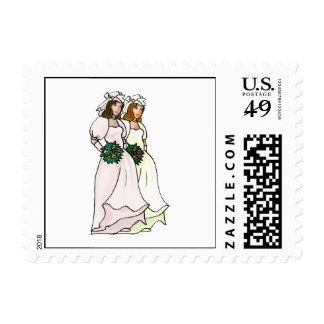 Brides Side by Side Stamps