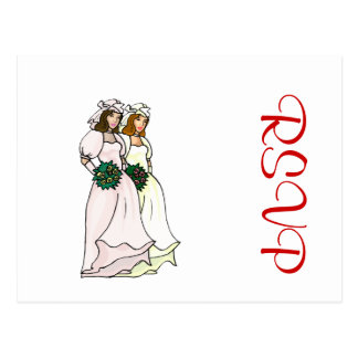 Brides Side by Side Postcard