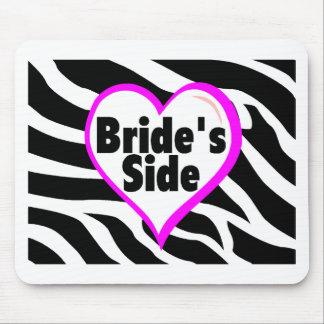Brides Side (Heart Zebra Stripes) Mouse Pads