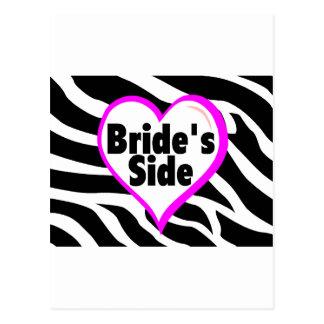 Brides Side (Zebra Print) Postcard