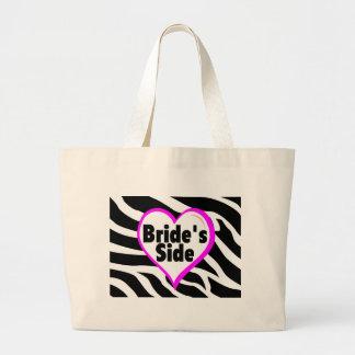 Brides Side Zebra Stripes Large Tote Bag