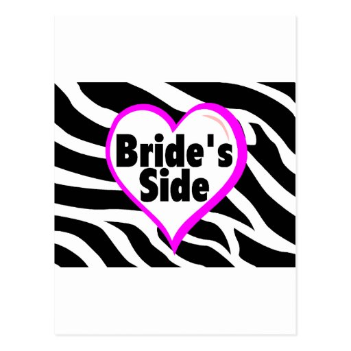 Brides Side Zebra Stripes Postcard