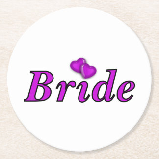 Brides Simply Love Round Paper Coaster