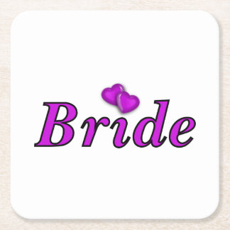 Brides Simply Love Square Paper Coaster