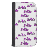 Brides Simply Love Wallet Phone Case For Samsung Galaxy S4