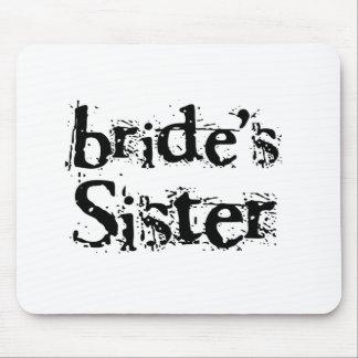Bride's Sister Black Text Mouse Pads