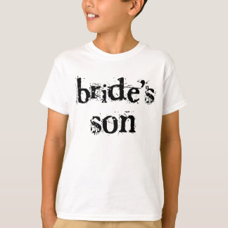 Bride's Son Black Text T-Shirt