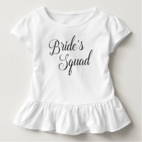 Bride's Squad Kids Toddler T-shirt