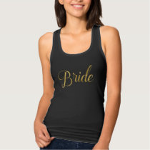 Bride's Squad Matching Bride Gold Script Tank Top