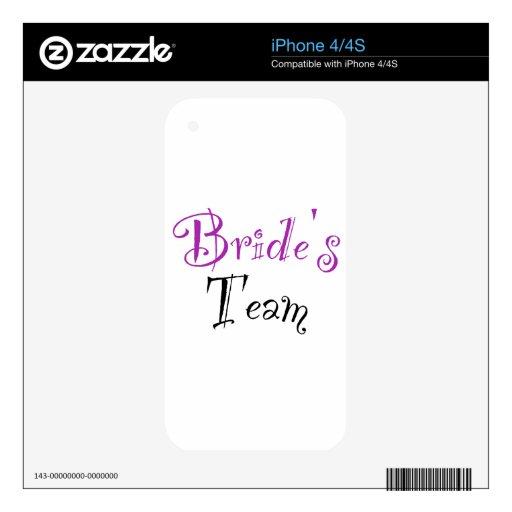 Bride's Team iPhone 4 Skin
