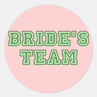 Bride's Team Sticker