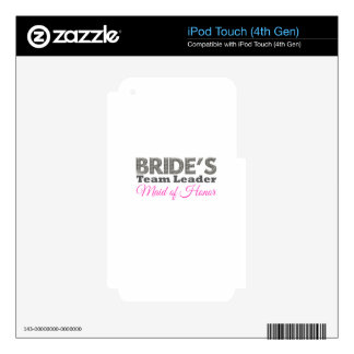 Bride's team to leader maid of honor skins for iPod touch 4G