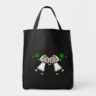 Brides Tossing Bouquests Tote Bag