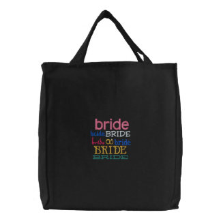 Bride's Tote Bag Embroidered and Colorful