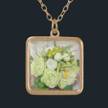 """Bride's Wedding Bouquet Add Your Photo Keepsake Gold Plated Necklace<br><div class=""""desc"""">Customize this design today! This gift is perfect for expression for the special occasion.  Come check out our store,  for all our cool designs.</div>"""